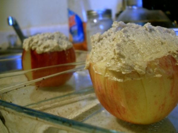 How to make a Bloomin' Apple, baked and drizzled with a butter deglaze sauce and buttery caramel.