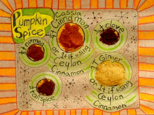 Pumpkin Spice: this recipe tries to lower cinnamon amount and rely on ginger as a base for a safer winter herbal boost.